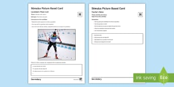 Winter Olympics Higher Tier Photo Card Activity Spanish - speaking, gcse, sports, free, time, hobbies