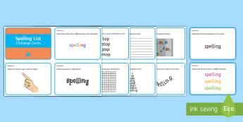 Spelling Activities Challenge Cards - Spelling Activities, spelling, challenge, revise, practise, spag, writing, ,Irish