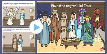 Povestea nașterii lui Isus - Prezentare PowerPoint - povestea, nașterea Iisus, Isus, Crăciun, prezentare Power Point, religie, iarna, materiale, materiale didactice, română, romana, material, material didactic