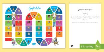 Gefühle Brettspiel - Gefühle, Gefühle äußern, Gefühle Brettspiel, Brettspiel, Spiel, Gruppenspiel, 4 Spieler Spiel,