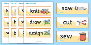 Design and Technology Topic Word Cards - design, technology, D&T, design and technology, word cards, cards, flashcards, IT, computer, designing, information, creative, teaching resources, resources, technology and design, computers, science, KS2, dra