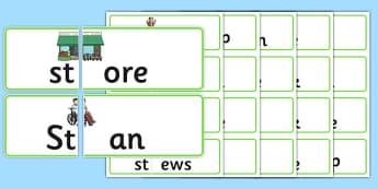 St Blends Jigsaws - st sound, jigsaws, puzzle, activity, sen, class