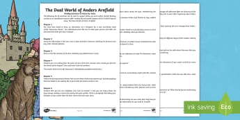 The Dual World of Anders Arnfield Writing & Follow-Up Activities - characters, dreams, events, story, plot, adventure, originals, fiction, year 6, comprehension