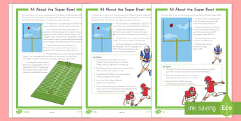 All About the Super Bowl Differentiated Fact File - Super Bowl 2017, Super Bowl, Fact File, KS1, 1st Grade, Literacy, Language Arts, Football, NFL Footb