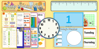 Year 2 Maths Working Wall  Pack - display, prompt, challenge, recall maths facts, four operations