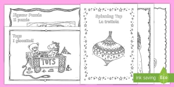 Toys Mindfulness Colouring Pages English/Italian  - Mindfulness, Colouring, ks1, ks2, eal