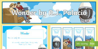 Years 5 and 6 Term 4 Chapter Chat Starter Resource Pack to Support Teaching On Wonder by RJ Palacio - literacy, reading, chapter chat, rJ Palacio, Wonder