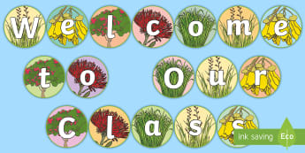 Welcome to Our Class Nature Display Cut-Outs - Back To School, Welcome To Our Class, 2018, New Zealand, Display, Signs, nature