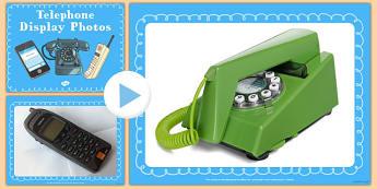 Telephone Display Photos PowerPoint - telephone, display photos, powerpoint, display, photos