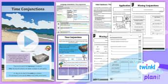 PlanIt Y4 Language Conventions: Time Conjunctions Lesson Pack - Language Conventions (Australia), Naplan, ACELA1493, Australian curriculum, noun groups, noun phrase