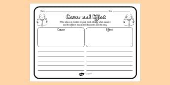 Cause And Effect Worksheets - cause, effect, cause and effect, worksheets, cause worksheets, effect worksheets, literacy, english, comprehension, reading