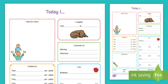 Today I... Daily Diary for Rising 3s with Nap and Potty Record - Daily sheet, daily diary, daily record, care sheet, daily communication, daily sheet, baby diary