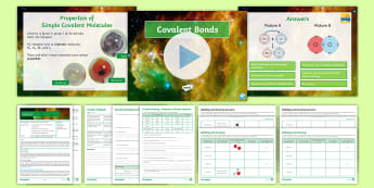 AQA Chemistry Unit 4.2 Lesson 3: Covalent Bonding - covalent bonding, bonding, simple molecules, chlorine, diatomic, dot and cross, covalent drawings, m