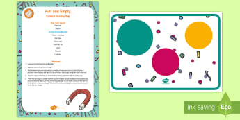 Full and Empty Concept Sensory Bag - shape space and measure, capacity, clean sensory play, schema, playmat