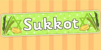 Sukkot Display Banner - sukkot, header, banner, judaism