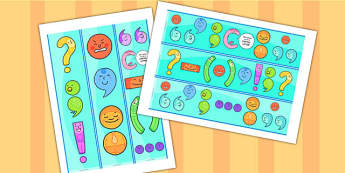 Punctuation Characters Display Borders - punctuation display
