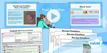 Computing: Computer Art: Pixel Pointillism Year 2 Lesson Pack 1