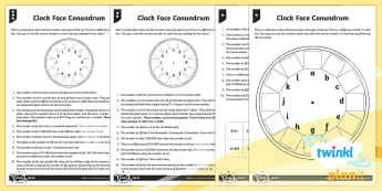 PlanIt Maths Y5 Number and Place Value Clock Face Conundrum Home Learning Tasks