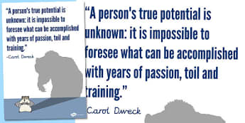 A Persons True Potential is Unknown Motivational Poster - display
