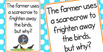 Scarecrow Scare Away Birds Poster - scarecrow, display, poster