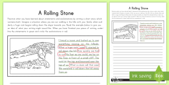 A Rolling Stone Statement or Exclamation Application Activity - statement, application activity, exclamation, writing, sentences