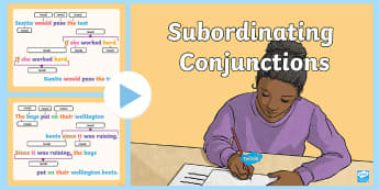 Subordinating Conjunctions Interactive PowerPoint - subordinating conjunctions KS2, what is a subordinating conjunction, conjunction, subordination, sub