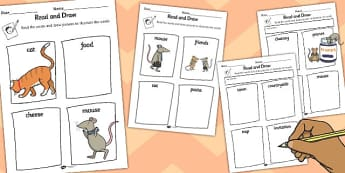 The Town Mouse and the Country Mouse Read and Draw Worksheet