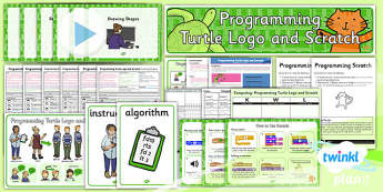 Computing: Programming Turtle Logo and Scratch Year 2 Unit Pack