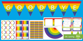 Goodbye Party Resource Pack - leavers, leaving, party, year 6, year 2, transition,