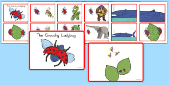 The Grouchy Ladybug Story Sequencing Cards - usa, america, the grouchy ladybug, story sequencing cards