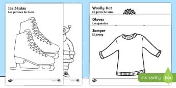 * NEW * Winter Topic Colouring Pages - English/Spanish  - Winter Topic Colouring Sheets -  Arctic, winter, xmas, colouring, fine motor skills, poster, workshe