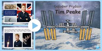 Gwybodaeth Gofodwr Prydain Tim Peake Pŵerbwynt - WL Social Media Requests in Welsh FP (HIGH PRIORITY), y gofod, pwerbwynt gwybodaeth tim peake,Welsh
