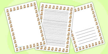 Cat Page Borders - cat, page borders, borders, writing, templates