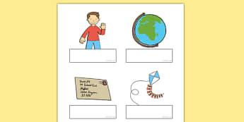 Flat Boy Editable Self-Registration - flat boy, flat stanley, jeff brown, self-registration