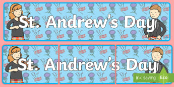 St. Andrew's Day Display Banner - holidays, festivals, header