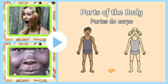 Parts of the Body PowerPoint English/Portuguese - Parts of the Body PowerPoint - parts, body, powerpoint, human, pp, ppt, eal