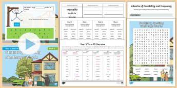 Year 5 Term 1B Week 6 Spelling Pack - Spelling Lists, Word Lists, Autumn Term, List Pack, SPaG