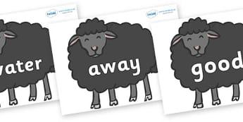 Next 200 Common Words on Baa Baa Black Sheep - Next 200 Common Words on  - DfES Letters and Sounds, Letters and Sounds, Letters and sounds words, Common words, 200 common words