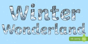 Winter Wonderland Display Lettering - Key Stage Two, Christmas, Themed Lettering, Sign, Title, Classroom, Hall,