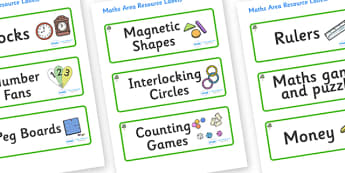Eucalyptus Themed Editable Maths Area Resource Labels - Themed maths resource labels, maths area resources, Label template, Resource Label, Name Labels, Editable Labels, Drawer Labels, KS1 Labels, Foundation Labels, Foundation Stage Labels, Teaching