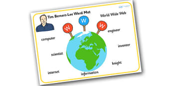 Tim Berners Lee Word Mat - tim berners lee, word mat, keywords