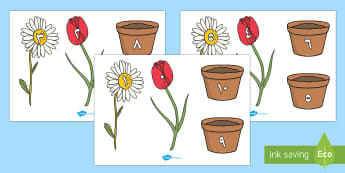زهور مكونات العدد 10 - أعداد، أرقام، العدد، الأعداد، عربي، حساب، رياضيات، مك