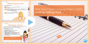 AQA Style Paper 2: Walking Talking Mock PowerPoint to Support Teaching on Exam Paper 002 - WTM. mocks, exam, revision, AQA, GCSE practice, Exam paper, KS4