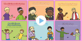 EYFS Daily Routine Songs and Rhymes PowerPoints Pack