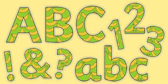Fairtrade Fortnight Banana Themed Display Letters and Numbers Pack - fairtrade fortnight, banana, fairtrade banana, display letters and numbers, pack, display, letters, numbers