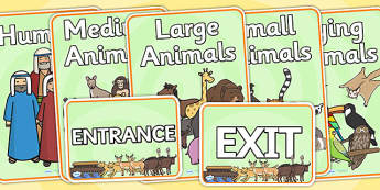 Noah's Ark Role Play Signs - Noah's ark, role play, RE, religion