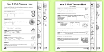 Year 2 SPaG Treasure Hunt