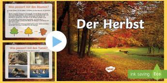 Der Herbst PowerPoint Präsentation - Herbst, Herbstzeit, Halloween, Erntedankfest, Thanksgiving, Winterschlaf, Tiere im Herbst, Tiere im