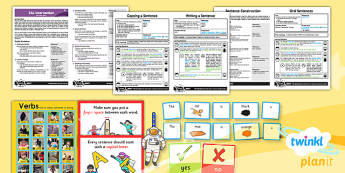 PlanIt EAL Intervention Basic Skills 5 Sentence Construction Pack
