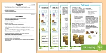 Fairtrade Differentiated Reading Comprehension Activity English/Polish - KS2, comprehension, reading, reading comprehension, reading activity, Fairtrade, farmers, rural, com